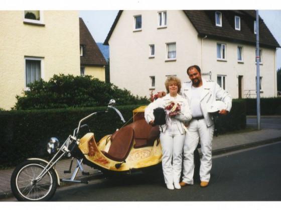 unsere Hochzeitskutsche mit Porschemotor